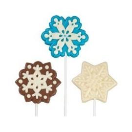 Molde Lollipop Copos de nieve