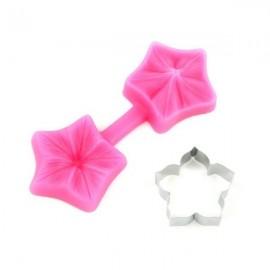 Set cortador y molde de silicona Petunia