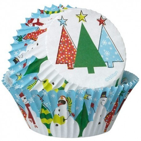 Cápsulas cupcakes Arboles de navidad. 75 uds