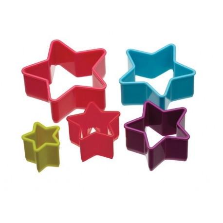 Cortadores Estrellas colores. Set de 5