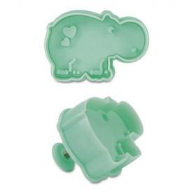 Cortador Hipopótamo con expulsor y marcador