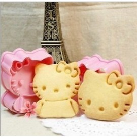 Cortadores Hello Kitty con marcador. Set de 2