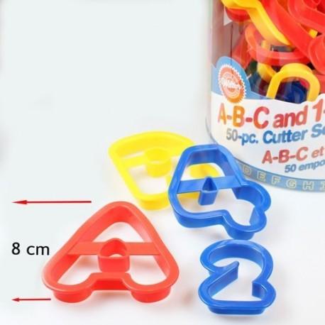 Cortadores Números y Letras. 50 piezas