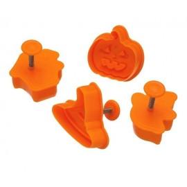Cortadores Halloween con expulsor y marcador. Set de 4