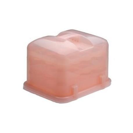 Caja transportador cupcakes rosa