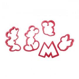 Cortadores Mickey y Minnie. Set de 5
