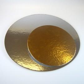 Base redonda para tartas Oro/Plata 16 cm