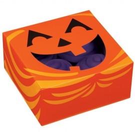 Caja Calabaza para 4 cupcakes con inserto. Unidad