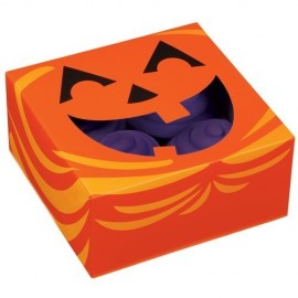Caja Calabaza para 4 cupcakes con inserto