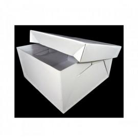 Caja alta en blanco para tartas 25 cm. Unidad