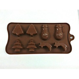 Molde figuras de Navidad para chocolate