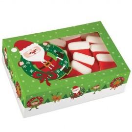 Caja Papá Noel para galletas. Unidad