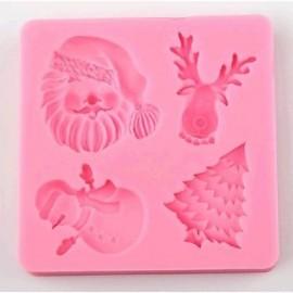 Molde de silicona motivos Navidad