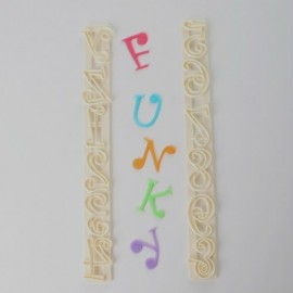 Moldes letras y números Funky