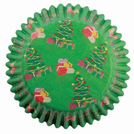 Cápsulas cupcakes Navidad. 60 uds