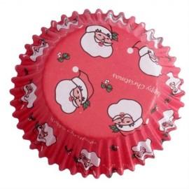 Cápsulas cupcakes Papá Noel rojos. 60 uds