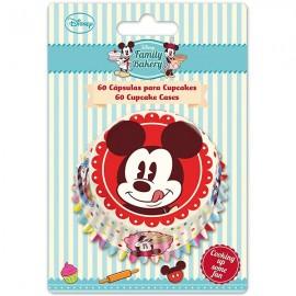 Cápsulas cupcakes Mickey Mouse. 60 uds