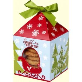 Cajas decoradas para Navidad con ventada. Set 4