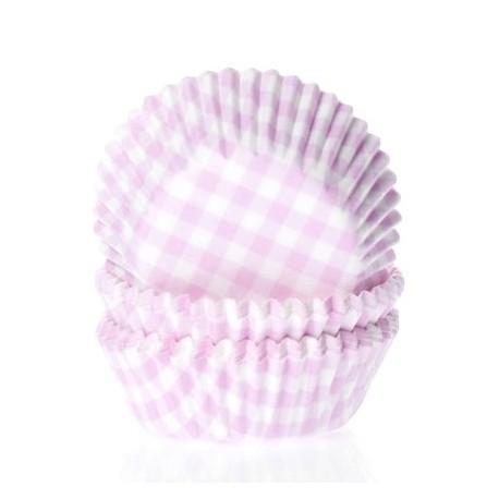 Cápsulas cupcakes Vichy Rosa. 50 uds