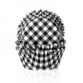 Cápsulas cupcakes Vichy Negro. 50 uds