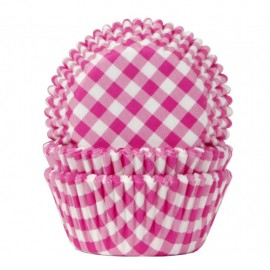 Cápsulas cupcakes Vichy Fucsia. 50 uds