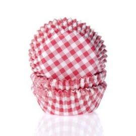 Cápsulas cupcakes Vichy Rojo. 50 uds