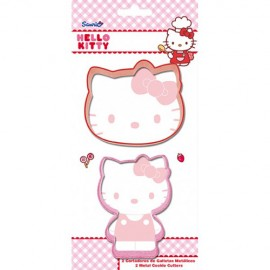 Cortadores Hello Kitty. Set de 2