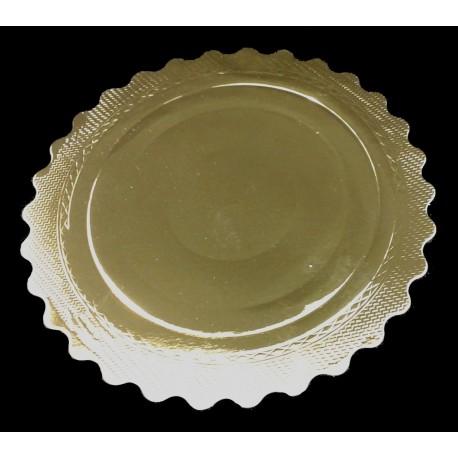 Base redonda ondulada para tartas Oro 28 cm