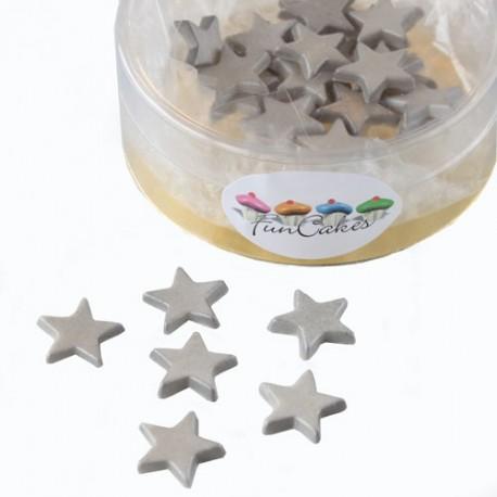 Estrellas comestibles. Color plateado