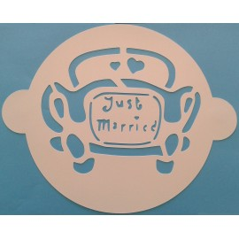 Plantilla Just Married para tartas