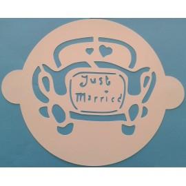 Plantilla Just Married para tartas