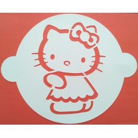 Plantilla Hello Kitty para tartas