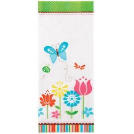 Bolsas decoradas Mariposas y flores