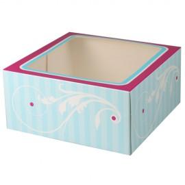 Caja Elegant para 4 cupcakes con inserto. Unidad