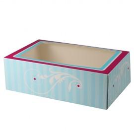 Caja Elegant para 6 cupcakes con inserto. Unidad