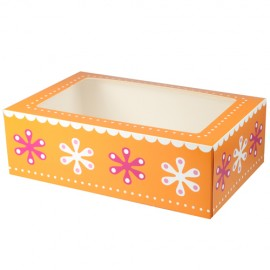 Caja Flores para 6 cupcakes con inserto. Unidad