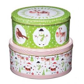 Cajas metálicas Navidad. Set de 2