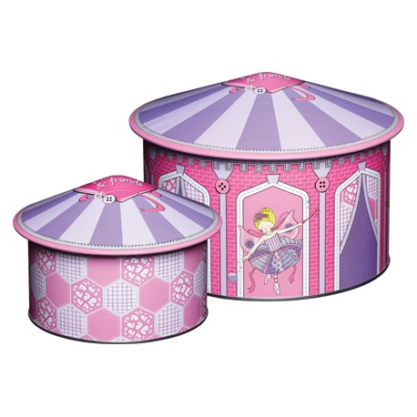 Cajas metálicas Circo. Set de 2