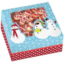 Caja Muñecos de Nieve para 4 cupcakes. Unidad
