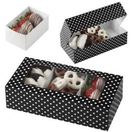 Caja lunares para galletas y dulces. Unidad