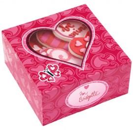 Caja Corazones Rosas para dulces. Unidad