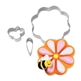 Cortador Flor y abeja