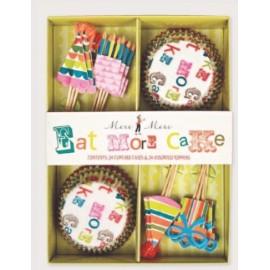Kit cupcakes Eat more cake. 24 uds