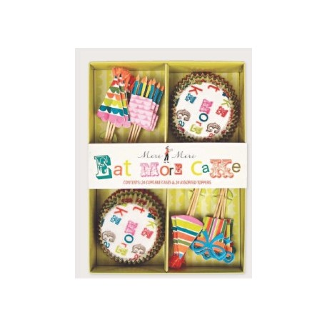 Kit cupcakes Eat more cake. 24 uds