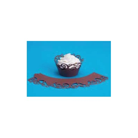 Wrappers cupcakes. Color Chocolate. 12 uds
