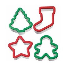 Cortadores ergonomicos Navidad. Set de 4