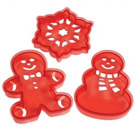 Cortadores+plantilla Navidad. Set de 3
