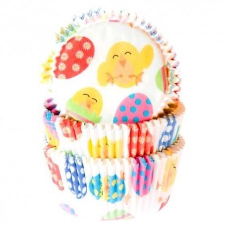 Cápsulas cupcakes Pollitos. 50 uds