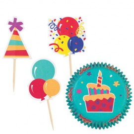 Kit cupcakes Fiesta. 24 uds
