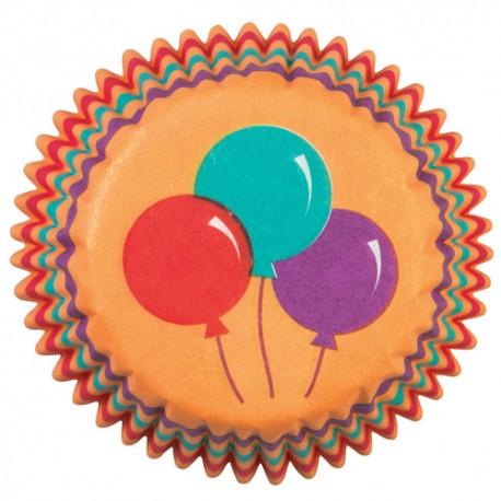 Cápsulas mini cupcakes Globos. 100 uds